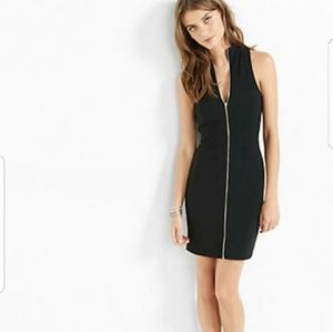 Black Express Zip Up Dress